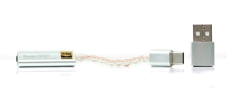 Audio DAC iBasso DC01 pequeño y portátil diseño y tamaño