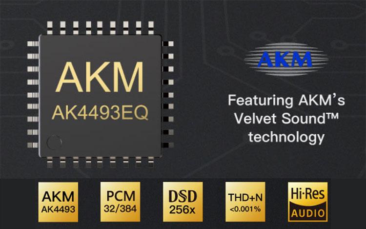 Audio DAC iBasso DC01 pequeño y portátil chipset chip AKM
