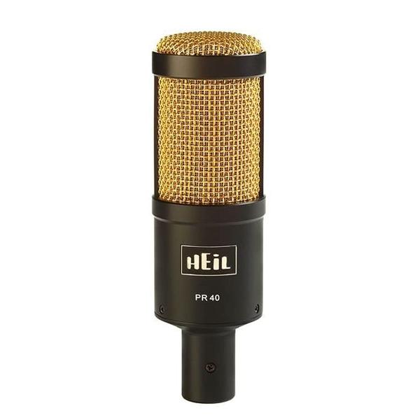 Micrófono dinámico HEIL PR-40 DYN Studio, para grabar un podcast profesional