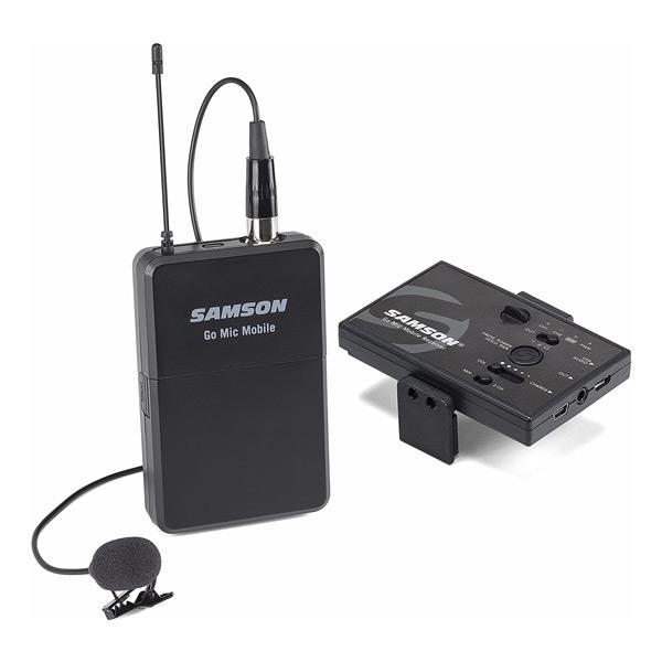 Micrófono móvil inalámbrico Samson Go Mic para podcasters a la carretera