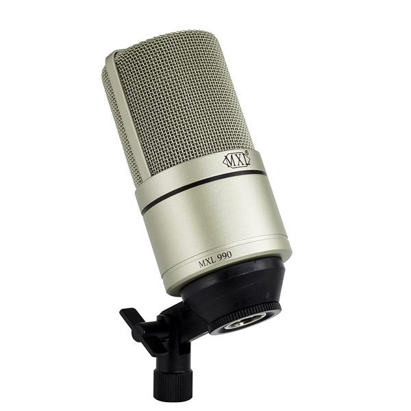 Micrófono de condensador MXL 990 con conector perfecto para grabaciones de podcast