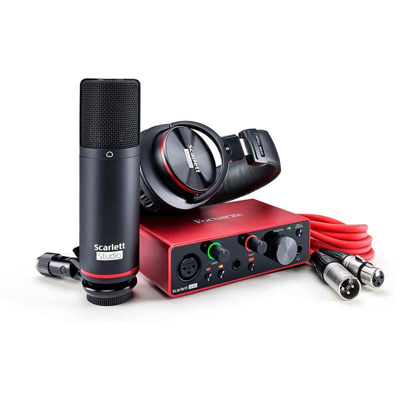 Otros productos para la grabación musical de la serie Focusrite Scarlett.