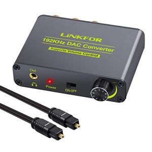 LiNKFOR-DAC-192kHz-Convertidor-Digital-a-Analogico-con-Regulador-de-Volumen-Conversor-Audio-Optico-Coaxial-a-Analogico-RCA-LR-35mm-Jack-con-Interruptor-ONOff-para-HDTV-PS3-PS4-Xbox-One-Sky-HD-DVD-0